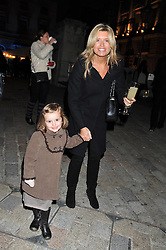 TINA HOBLEY and her daughter OLIVIA at a Winter Party hosted by Tiffany to celebrate the opening of the Ice Rink at Somerset House for Christmas 2011 held on 21st November 2011.