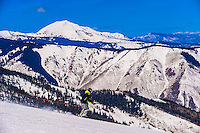 Sneaky's (ski run), Snowmass/Aspen ski resort, Snowmass Village (Aspen), Colorado USA.