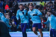 Leeds United defender Ben White (5) and Leeds United midfielder Kalvin Phillips (23) warming up during the EFL Sky Bet Championship match between Leeds United and Preston North End at Elland Road, Leeds, England on 26 December 2019.