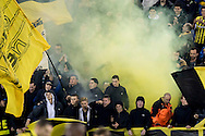 ARNHEM, Vitesse - PSV, voetbal, Eredivisie, seizoen 2016-2017, 29-10--2016, Stadion De Gelredome, sfeer, rook, vuurwerk, vlaggen, Vitesse supporters.