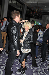 JAMES BROWN and JAIME WINSTONE at a party hosted by Vauxhall Motors to celebrate their collaboration with menswear designer James Small following his Autumn/Winter 2012 show during London Fashion Week held at Corinthia Hotel, London on 22nd February 2012.
