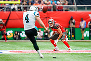 Tampa Bay Buccaneers Wide Receiver Justin Watson (17) watches as the Panthers kick off during the International Series match between Tampa Bay Buccaneers and Carolina Panthers at Tottenham Hotspur Stadium, London, United Kingdom on 13 October 2019.