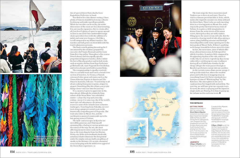 A feature story for Travel + Leisure Southeast Asia on traveling through Japan's southernmost island of Kyushu.