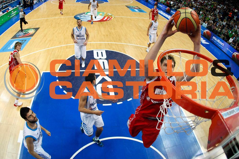 DESCRIZIONE : Vilnius Lithuania Lituania Eurobasket Men 2011 Second Round Grecia Russia Greece Russia<br /> GIOCATORE : Timofey Mozgov<br /> SQUADRA : Russia Russia<br /> EVENTO : Eurobasket Men 2011<br /> GARA : Grecia Russia Greece Russia<br /> DATA : 10/09/2011<br /> CATEGORIA : tiro special<br /> SPORT : Pallacanestro <br /> AUTORE : Agenzia Ciamillo-Castoria/ElioCastoria<br /> Galleria : Eurobasket Men 2011<br /> Fotonotizia : Vilnius Lithuania Lituania Eurobasket Men 2011 Second Round Grecia Russia Greece Russia<br /> Predefinita :