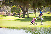 Golfer at Cerritos Iron-Wood Nine Golf Course