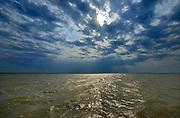 Stormy skies on South Basin of Lake Winnipeg<br /> South Basin of Lake Winnipeg<br /> Manitoba<br /> Canada