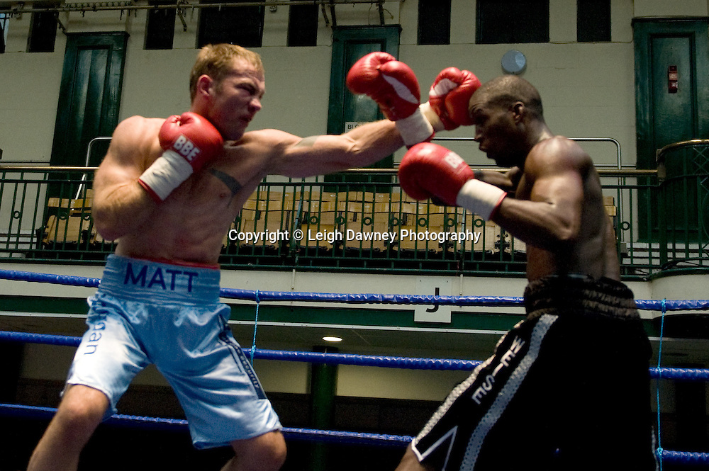 Nathan Weise defeats Matt Scriven at York Hall 4th October 2009. Promoted by David Coldwell,Hayemaker Promotions Credit: ©Leigh Dawney Photography