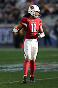Arizona Cardinals wide receiver Larry Fitzgerald (11) looks into the late day light during the 2016 NFL week 17 regular season football game against the Los Angeles Rams on Sunday, Jan. 1, 2017 in Los Angeles. The Cardinals won the game 44-6. (©Paul Anthony Spinelli)