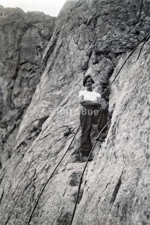 rock climbing  adventure 1935 Alps France