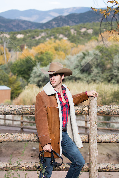 cowboy outdoors on a ranch