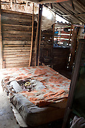 Bed in Vista Alegre near Unas, Holguin, Cuba.