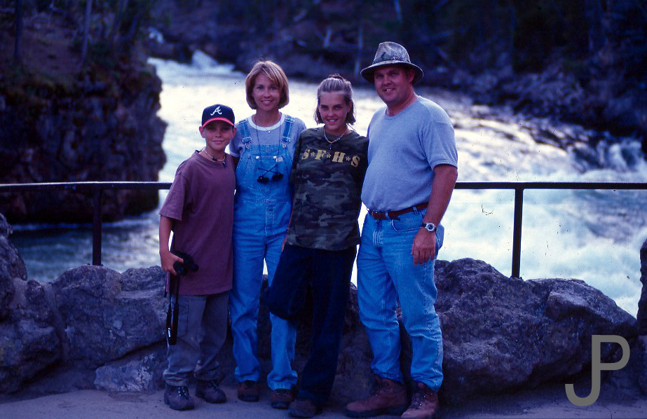 In front of Yellowstone River