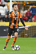Hull City player Ryan Mason (25) looks for someone to pass to  during the Premier League match between Hull City and Chelsea at the KCOM Stadium, Kingston upon Hull, England on 1 October 2016. Photo by Ian Lyall.