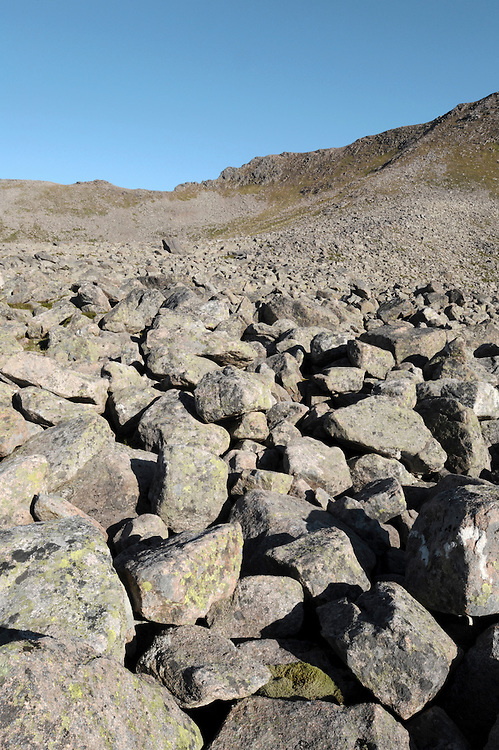 Scree slope, Cairngorm, Scottish Highlands, UK