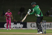 Central Stags Kieran Noema-Barnett bats during the Burger King Super Smash T20 cricket match between the Central Stags and the Northern Knights, McLean Park, Napier, Friday, January 25, 2019. Copyright photo: Kerry Marshall / www.photosport.nz