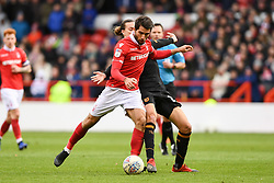 March 9, 2019 - Nottingham, England, United Kingdom - Karim Ansarifard (37) of Nottingham Forest lines up a shot leading to a goal during the Sky Bet Championship match between Nottingham Forest and Hull City at the City Ground, Nottingham on Saturday 9th March 2019. (Credit Image: © Jon Hobley/NurPhoto via ZUMA Press)