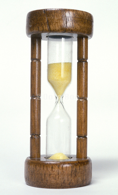still life of a newly started hourglass