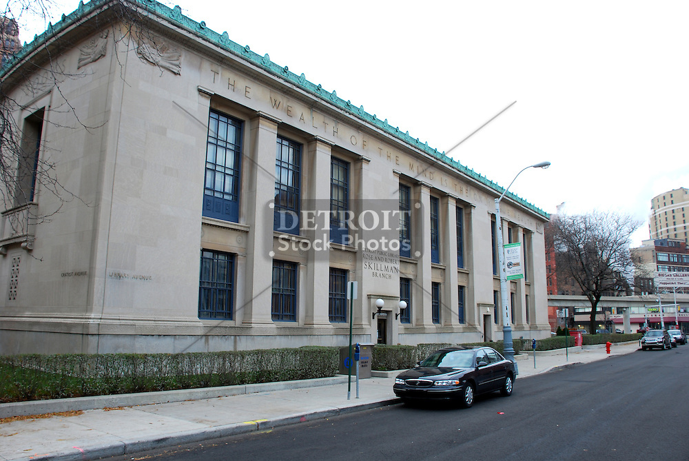 Opened January 4, 1932 and was known as the Downtown Library until it was renamed the Rose and Robert Skillman Branch Library to honor a generous gift from the Skillman Foundation.