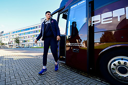 Tevin Falzon of Bristol Flyers arrives at Plymouth Pavilions prior to kick off - Photo mandatory by-line: Ryan Hiscott/JMP - 28/10/2018 - BASKETBALL - Plymouth Pavilions - Plymouth, England - Plymouth Raiders v Bristol Flyers - British Basketball Cup
