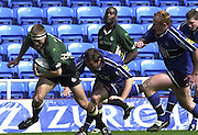 04/05/2002.Sport - Rugby Union.Zurich Premiership.London Irish vs Sale.Michael Horak runs through for a try...[Mandatory Credit, Peter Spurier/ Intersport Images].