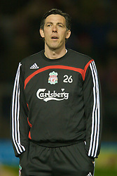 WARRINGTON, ENGLAND - Tuesday, February 26, 2008: Liverpool's reserve team manager Gary Ablett during the FA Premiership Reserves League (Northern Division) match against Manchester United at the Halliwell Jones Stadium. (Photo by David Rawcliffe/Propaganda)