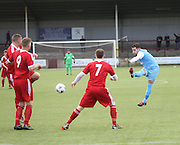 Scott Ritchie opens the scoring - Harvester v Fairfield - Fosters Scottish Sunday Trophy semi final<br /> <br />  - &copy; David Young - www.davidyoungphoto.co.uk - email: davidyoungphoto@gmail.com