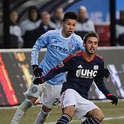 Diego Fagundez, New England Revolution, in action  during the New York City FC v New England Revolution, inaugural MSL football match at Yankee Stadium, The Bronx, New York,  USA. 15th March 2015. Photo Tim Clayton
