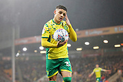 Norwich City defender Max Aarons (37) during the EFL Sky Bet Championship match between Norwich City and Swansea City at Carrow Road, Norwich, England on 8 March 2019.