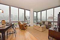 Living Room at 4630 Center Boulevard