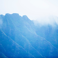 Koolau Mountains with clouds