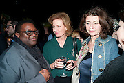 ISAAC JULIEN; JULIA PEYTON-JONES; KAREN MARTA, Tilda Swinton / Pringle Dinner at the Webster,  Miami Beach. 3 December 2010. -DO NOT ARCHIVE-© Copyright Photograph by Dafydd Jones. 248 Clapham Rd. London SW9 0PZ. Tel 0207 820 0771. www.dafjones.com.