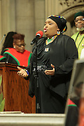 December 11, 2013-New York, NY:  Thokoza Group performs at the Nelson Mandela Commemorative Memorial service held at the Riverside Church on December 11, 2013 in New York City. Nelson Rolihlahla Mandela was inaugurated as the first black President of a democratic South Africa on May 10, 1994 bringing democracy and ending the oppressive rule of apartheid . (Terrence Jennings)