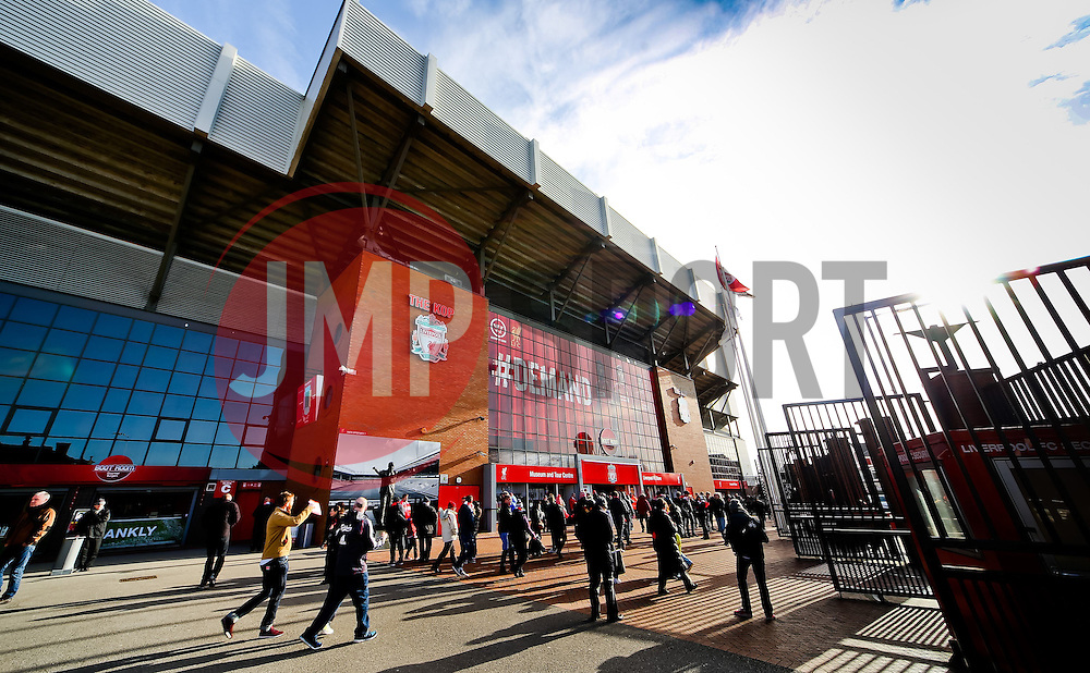A general view as fans make their way to Anfield Stadium ahead of the Barclays Premier League fixture between Liverpool and Manchester City  - Photo mandatory by-line: Matt McNulty/JMP - Mobile: 07966 386802 - 01/03/2015 - SPORT - Football - Liverpool - Anfield Stadium - Liverpool v Manchester City - Barclays Premier League