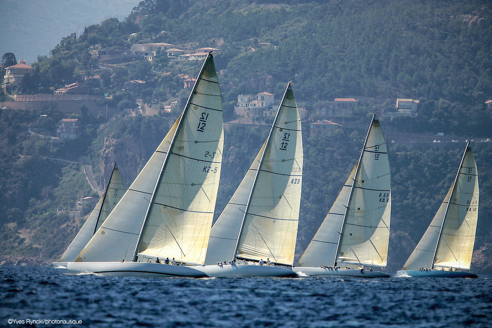 Hissar KZ5, Wright on White KZ3,Kookaburra II KA12, South Australia KA8,  voile, 12M, Jauge internationale,Régate Royales