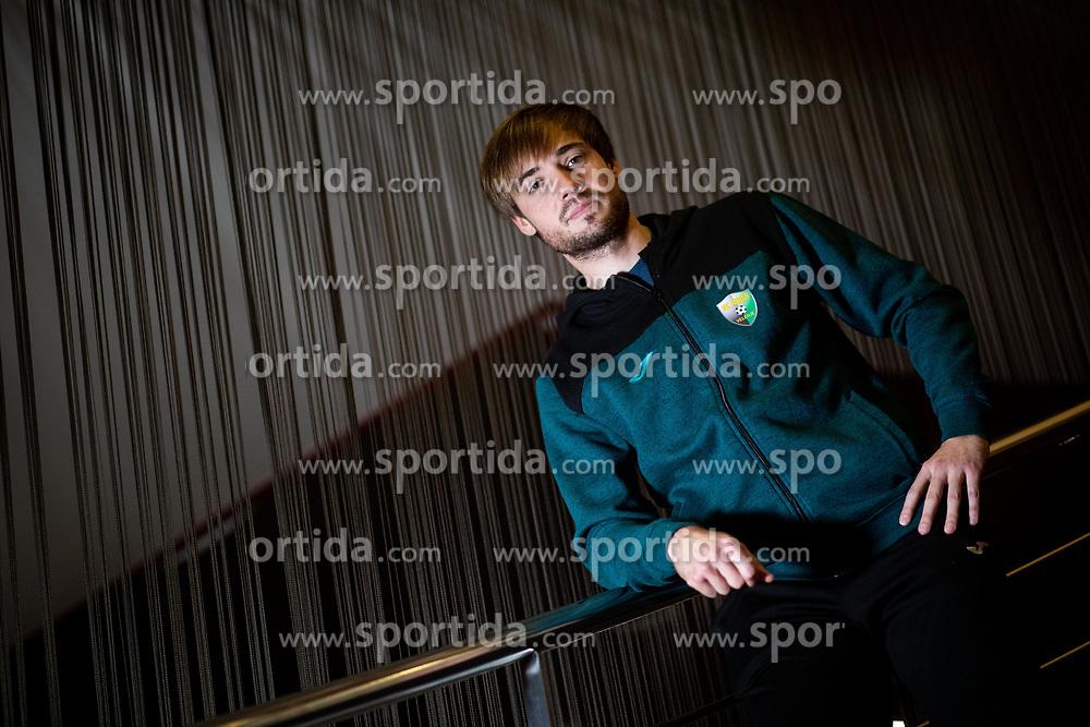 Portrait od Damjan Trifkovic, football player of NK Rudar during training camp before spring season, on January 28, 2020 in Melia Hotel, Umag, Croatia. Photo by Vid Ponikvar / Sportida
