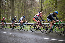 Lotta Lepistö (FIN) of Cervélo-Bigla Cycling Team sits in the middle of the peloton during the last lap the first, 106.9km road race stage of Elsy Jacobs - a stage race in Luxembourg, in Steinfort on April 30, 2016