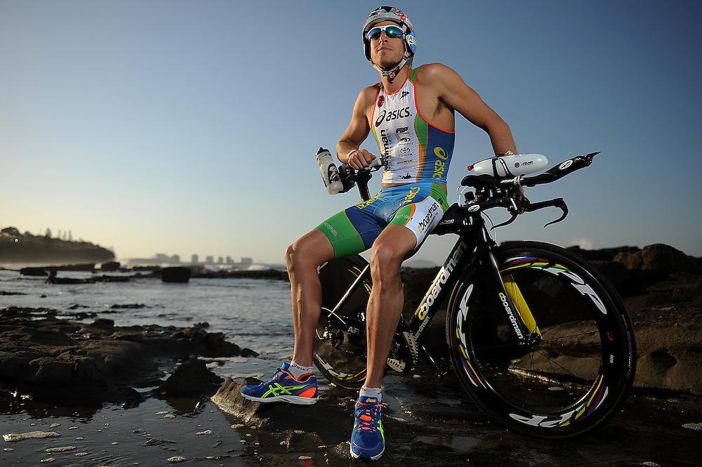 SUNSHINE COAST, AUSTRALIA - SEPTEMBER 14:  Australian triathlete Pete Jacobs poses during a portrait session on September 14, 2013 on the Sunshine Coast, Australia.  (Photo by Matt Roberts/Getty Images)