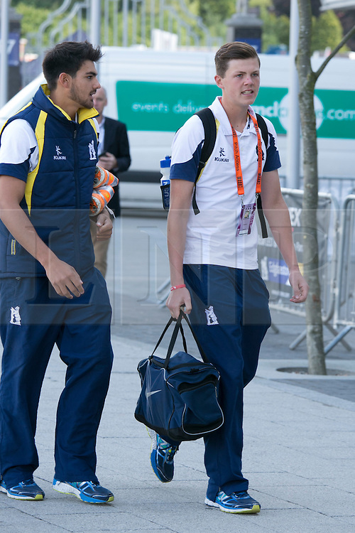 © Licensed to London News Pictures. 29_07_2015. Pictured, Players arriving before the game. Cricket fans arriving at Edgbaston cricket  ground for the start of the third test against Australia. Photo credit : Dave Warren/LNP