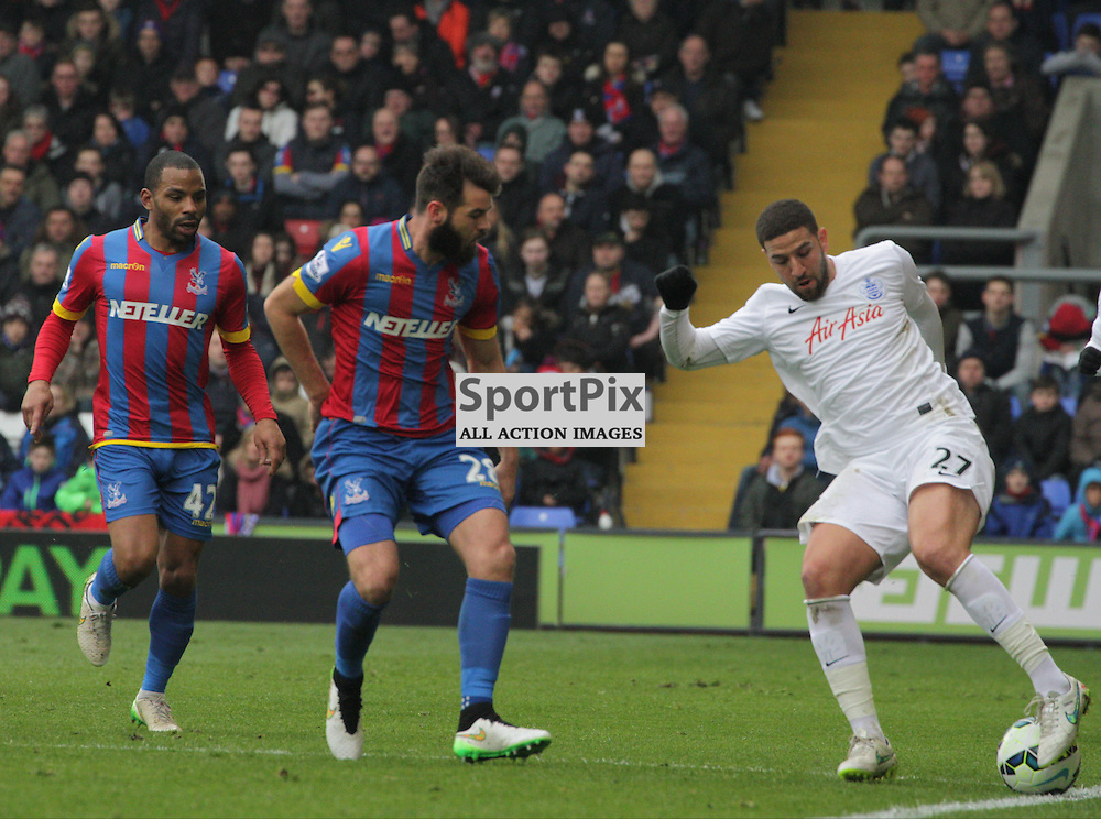 "Adel Taarabt performs a ""Cruyff Turn"" on the touchline During the game between Crystal Palace and Queens Park Rangers on Saturday 14th March 2015"