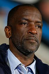 Huddersfield Town Manager Chris Powell looks on - Photo mandatory by-line: Rogan Thomson/JMP - 07966 386802 - 21/10/2014 - SPORT - FOOTBALL - Huddersfield, England - The John Smith's Stadium - Huddersfield Town v Brighton & Hove Albion - Sky Bet Championship.