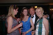 Mrs. Karen Liddle-Grainger, Aline Hay, Lord Biddulph and Sarah Goodall. The  Royal Caledonian Ball in aid of The Royal Caledonian Ball Trust held at The Grosvenor House Hotel, Park Lane, London W1.  28  April 2005. ONE TIME USE ONLY - DO NOT ARCHIVE  © Copyright Photograph by Dafydd Jones 66 Stockwell Park Rd. London SW9 0DA Tel 020 7733 0108 www.dafjones.com