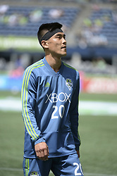 May 26, 2018 - Seattle, Washington, U.S - MLS Soccer 2018: Seattle defender KIM KEE-HEE (20) during pre-game warm ups as the Seattle Sounders host Real Salt Lake in a MLS match at Century Link Field in Seattle, WA. (Credit Image: © Jeff Halstead via ZUMA Wire)