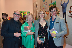 Ade Edmondson, Jennifer Saunders, Imogen Poots and James Norton at the Royal Academy Of Arts Summer Exhibition Preview Party 2018 held at The Royal Academy, Burlington House, Piccadilly, London, England. 06 June 2018.