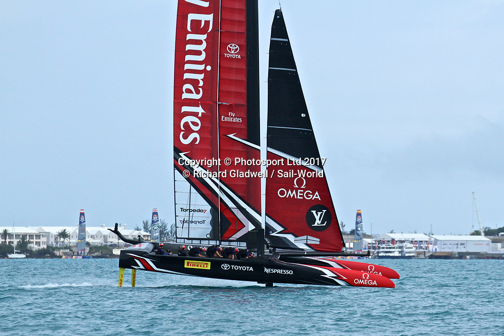 Emirates Team New Zealand - Challenger Final, Day  3 - 35th America's Cup - Day 16 - Bermuda  June 12, 2017.<br /> Copyright photo: Richard Gladwell / www.photosport.nz