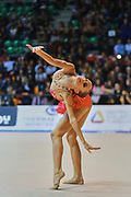 Francesca Pellegrini atleta della società Raffaello Motto di Viareggio durante la seconda prova del Campionato Italiano di Ginnastica Ritmica.<br /> La gara si è svolta a Desio il 31 ottobre 2015.