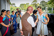 28-5-2018 DELHI - Queen Maxima during a visit to the local coordinator and representative of the UN Yury Afanasiev. Maxima visits the country at the invitation of the government and in her capacity as special advocate of the Secretary-General of the United Nations for inclusive financing for development. ROBIN UTRECHT