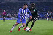 Brighton and Hove Albion midfielder Beram Kayal (7) battles with Crystal Palace #23 Pape Souare during the The FA Cup 3rd round match between Brighton and Hove Albion and Crystal Palace at the American Express Community Stadium, Brighton and Hove, England on 8 January 2018. Photo by Phil Duncan.