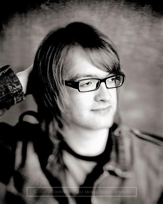 Portrait of musician, Graham Ryder.
