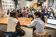 Maud Chifamba, Milano 2014. Incontro presso spazio Open con mariangela Pira. Campagna di terre des hommes INDIFESA. Meeting at Open space.