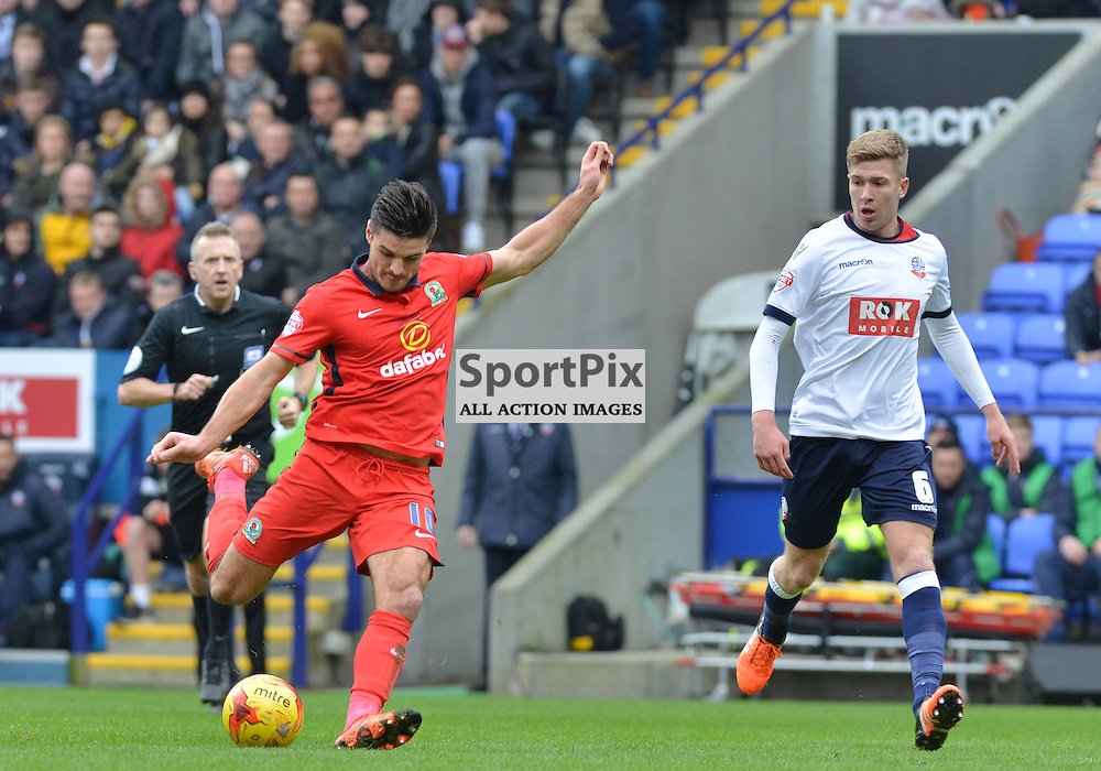 Ben Marshall of Rovers fires a shot over the Bolton goal......(c) BILLY WHITE | SportPix.org.uk
